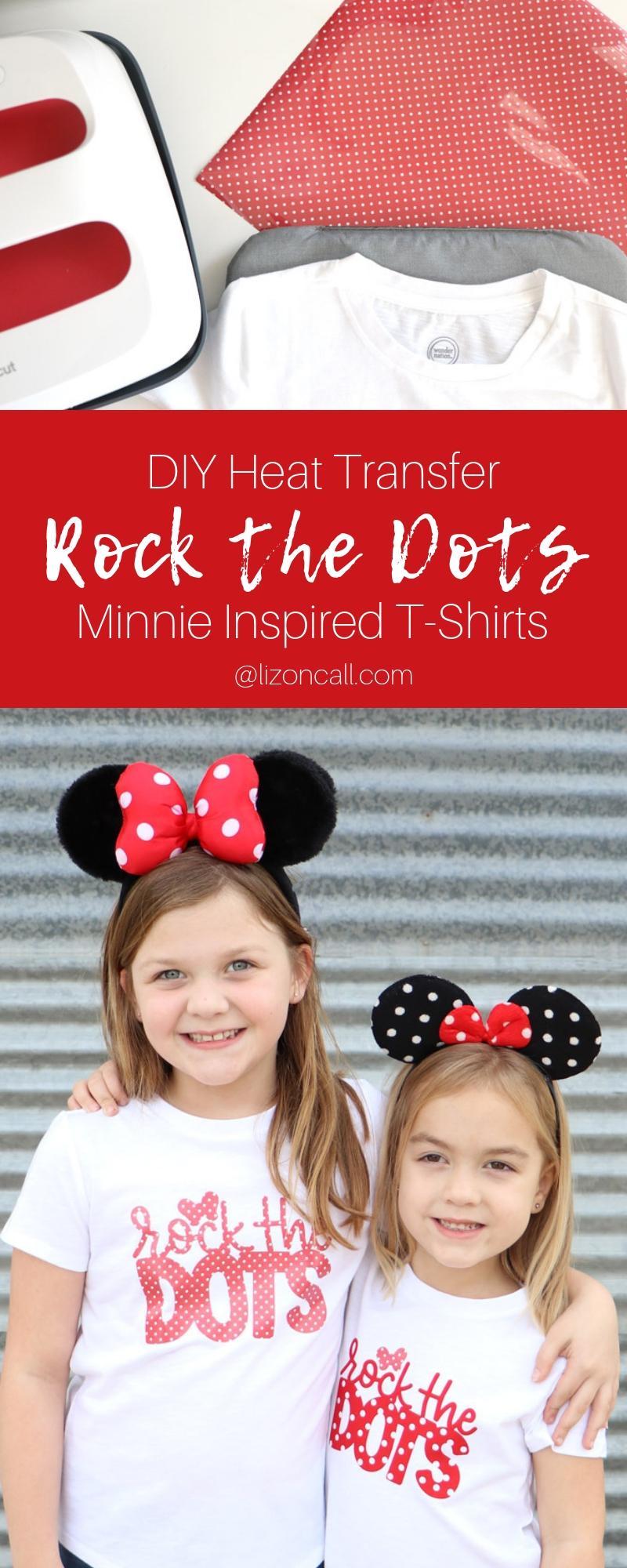 Show your love of polka dots and the original polka dot princess, with this Disney inspired DIY Minnie Rock The Dots Shirt. Get the free cut file. #rockthedots #disneydiy