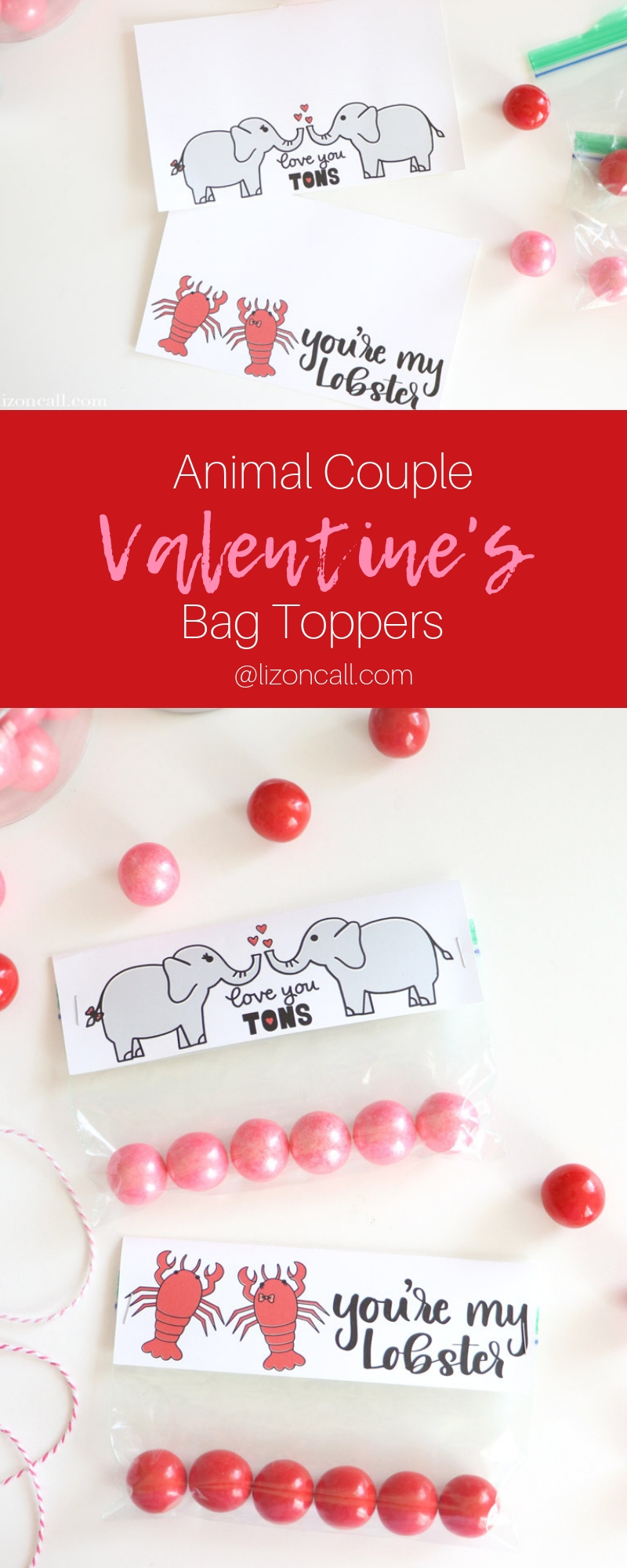 Use your favorite Valentine's cut files to create these Valentine's Bag Toppers and make easy Valentine's treats for classrooms, friends, neighbors and loved ones. #valentinesday #candyvalentine