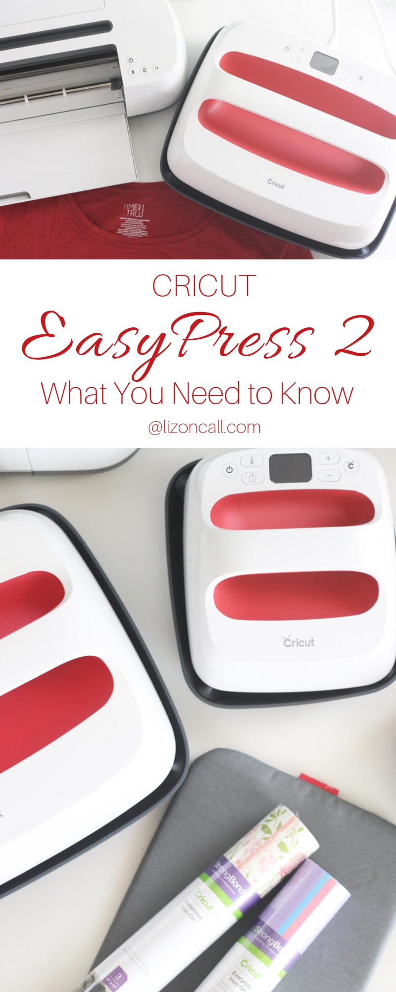 Cricut EasyPress 2 (titled) what you need to know Cricut EasyPress 2 machines and rolls of iron on vinyl
