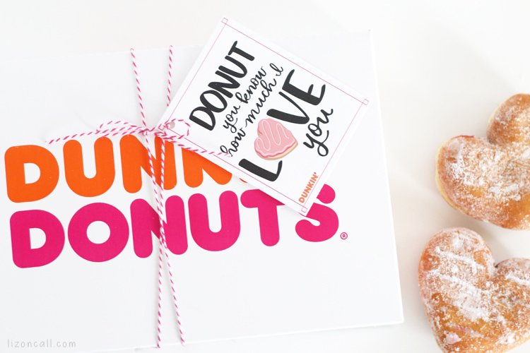 Donut you know how much I love you printable tied to a donut box