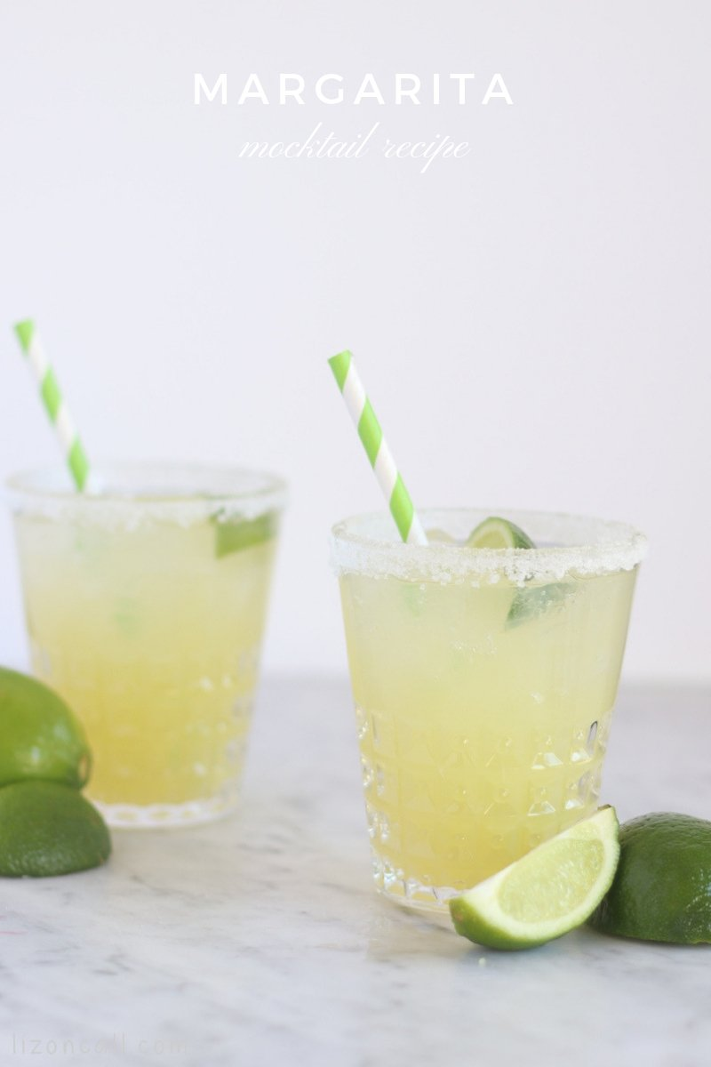This non-alcoholic Margarita Mocktail Recipe is the perfect blend of sweet and tart.  Also known as a virgin margarita, all ages can enjoy it!