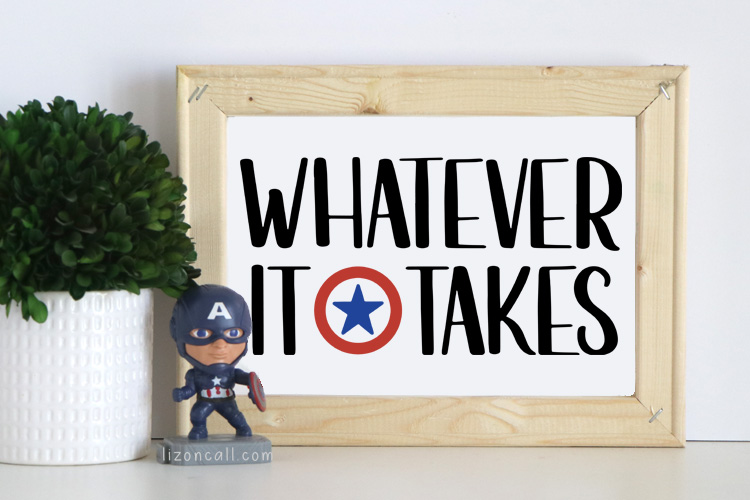 After getting to see an early screening of the movie, I knew I needed to make these Avengers Endgame Printables and Cut Files for my son's room.