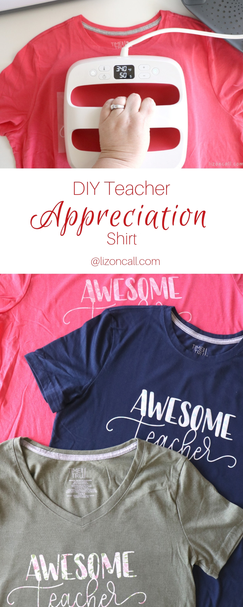 We made these DIY Teacher Appreciation Shirts for the teachers this year just in time for Teacher Appreciation Week, easy Teacher Appreciation gift.