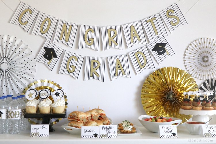 Like hosting any party, putting together a High School Graduation party can be overwhelming. Here are some Easy Graduation Party Ideas to make hosting a graduation party at home a bit less stressful.