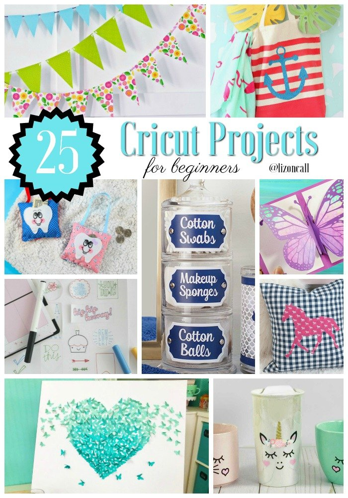 More than 20 Cricut projects for beginners. Cricut projects with paper and vinyl.