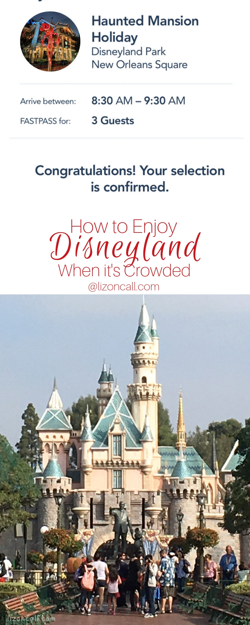 No matter what time of year you plan your trip to Disneyland, here are the best tips on How To Enjoy Disneyland When It's Crowded.