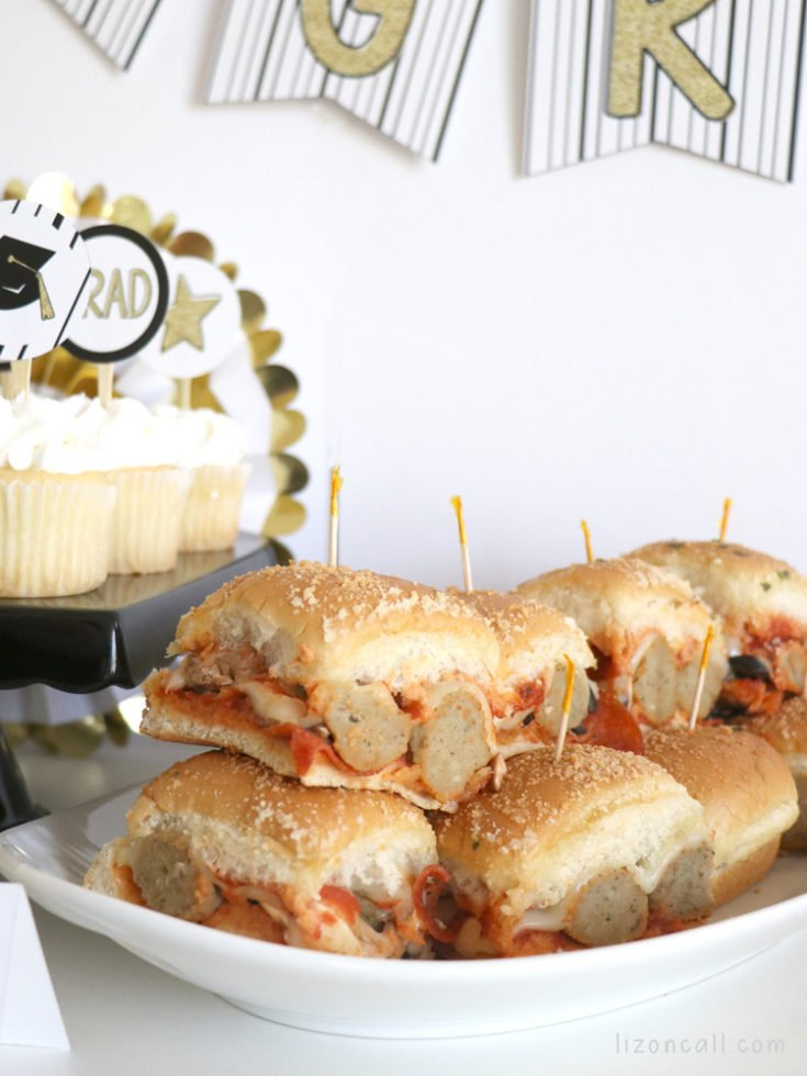 Here are some Easy Graduation Party Ideas to make hosting a graduation party at home a bit less stressful. Graduation party food ideas. #ad