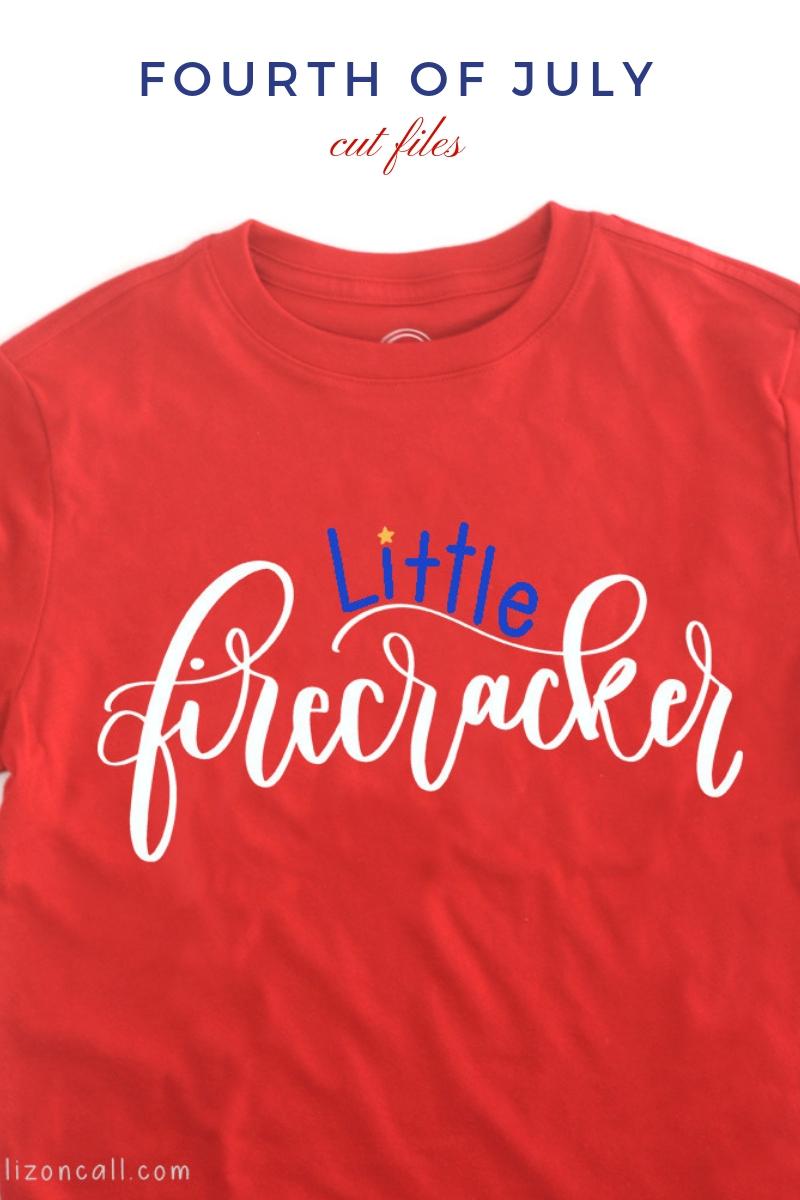 Titled image, shirt with little firecracker cut file