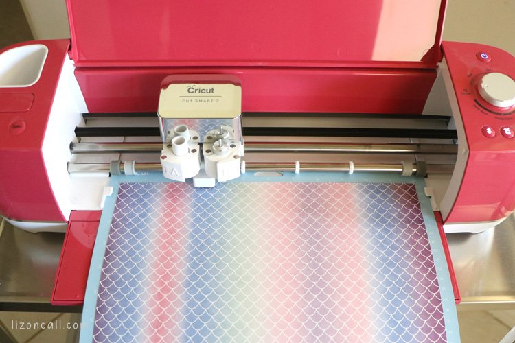 Infusible ink transfer sheet loaded into a cricut explore air 2 machine