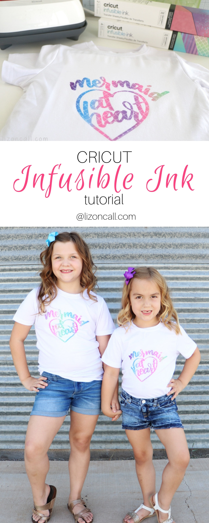 Pinnable image for Cricut Infusible Ink transfer sheets and shirts
