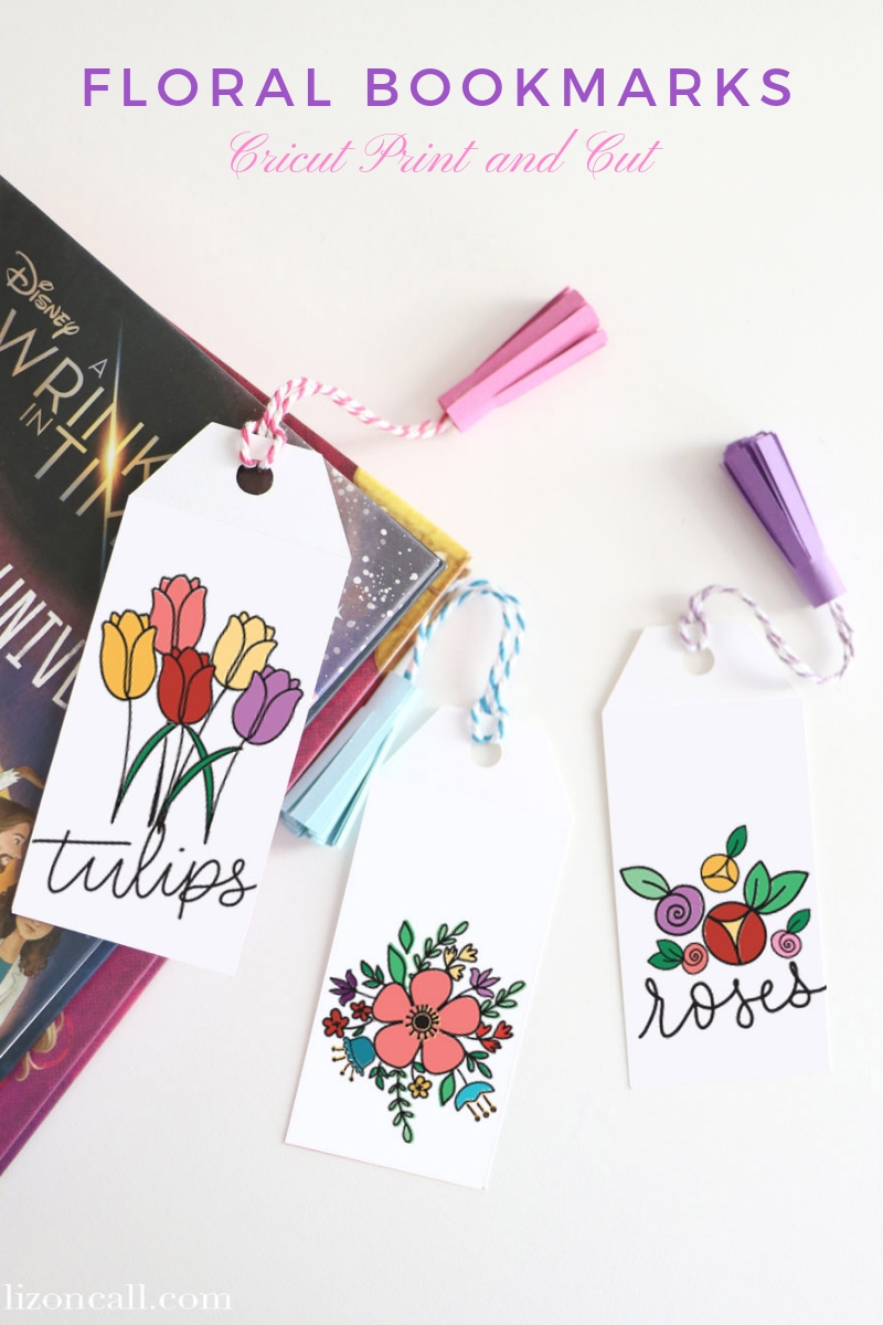 Titled Floral Bookmarks with carstock tassels