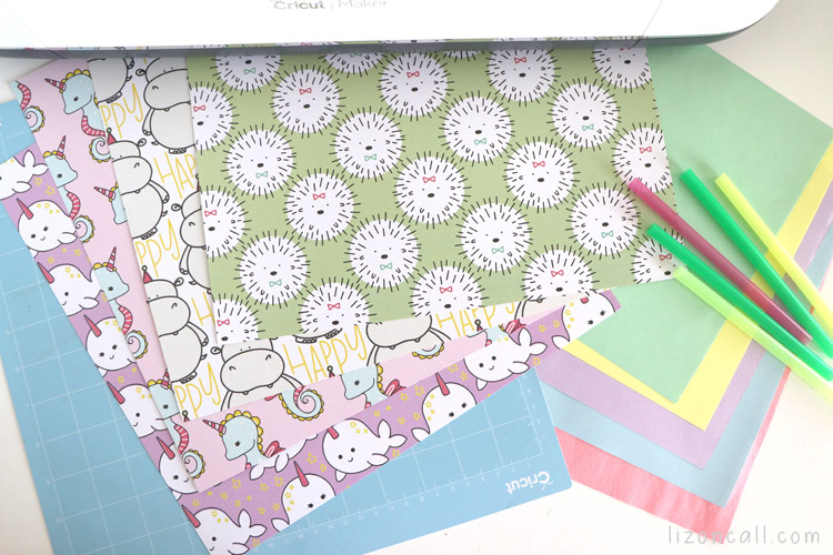 Rad and Happy Paper with other supplies by a Cricut Maker to make Party blowers