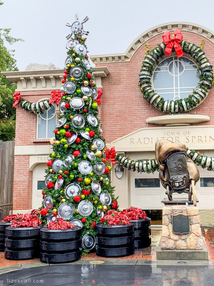 Christmas Tree in Cars Land