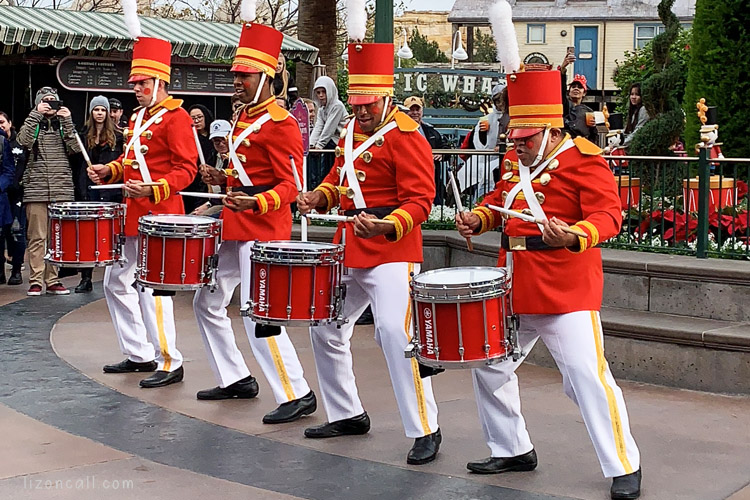 Toy Soldier drum line at Disney Calirfornia Adventure