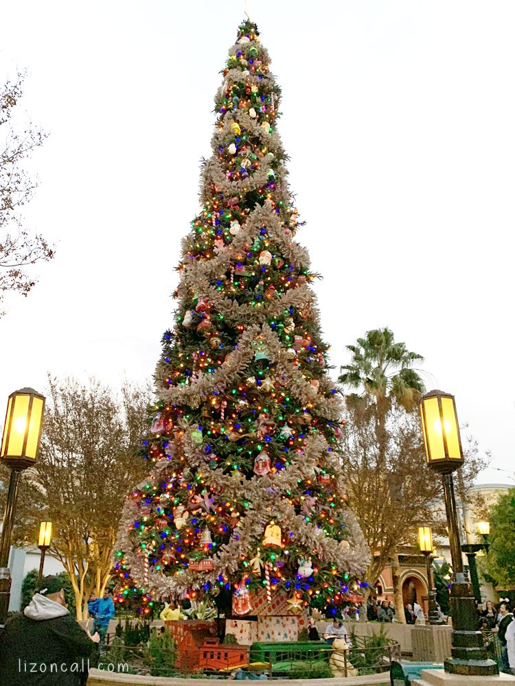 Christmas tree at Disney California Adventure