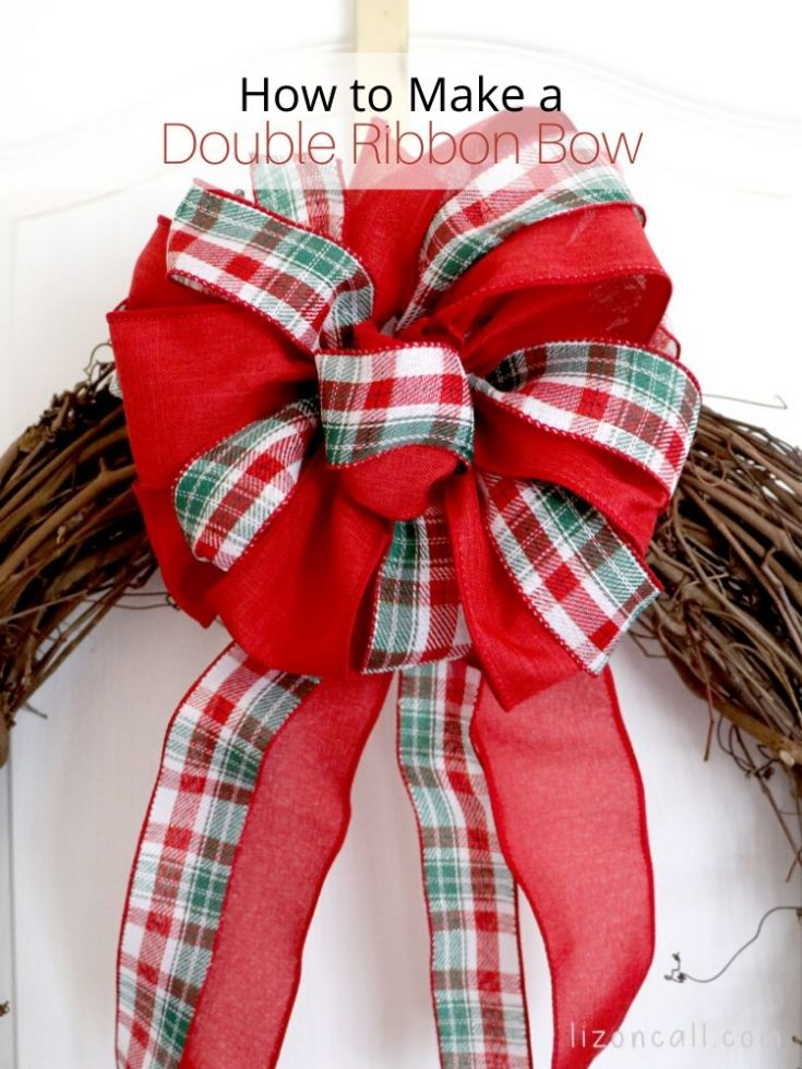 How to Make Double Ribbon Bow for Wreath DIY Tutorial