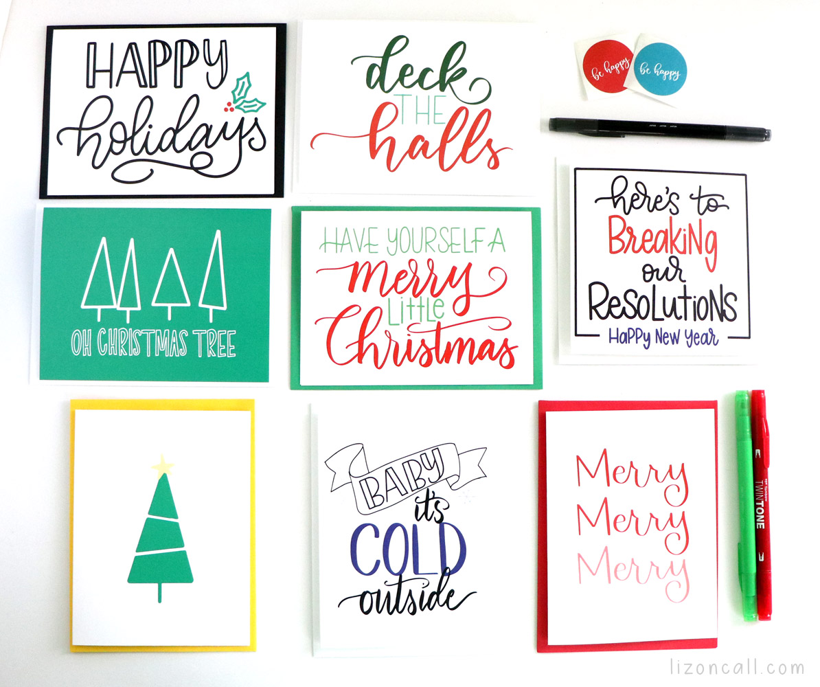 7 holiday greeting cards