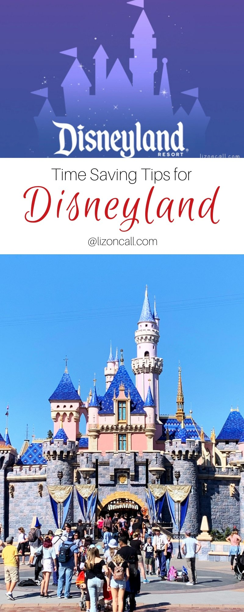 pinnable titled image Disneyland castle