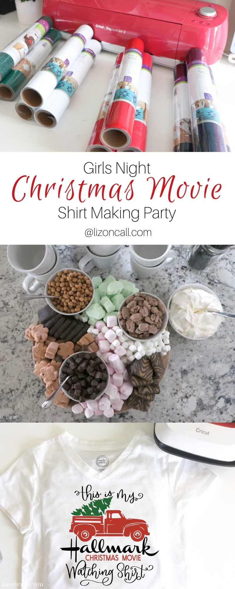 Titled Pinnable image for DIY Christmas movie watching shirt