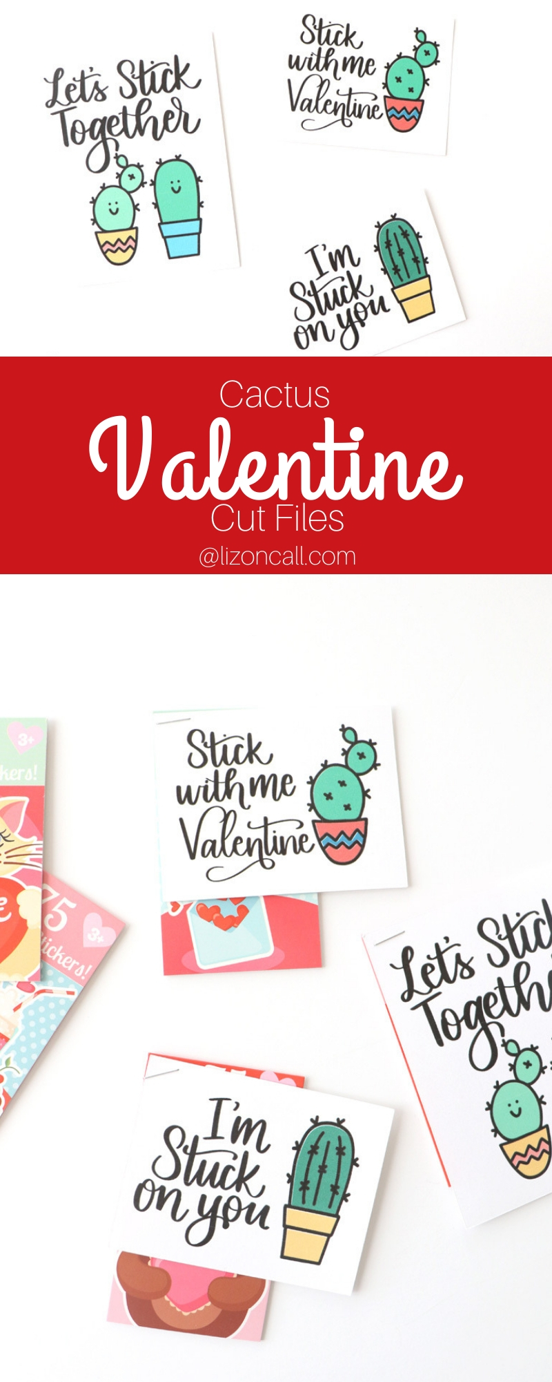 pinnable titled image cactus cut files for classroom valentines