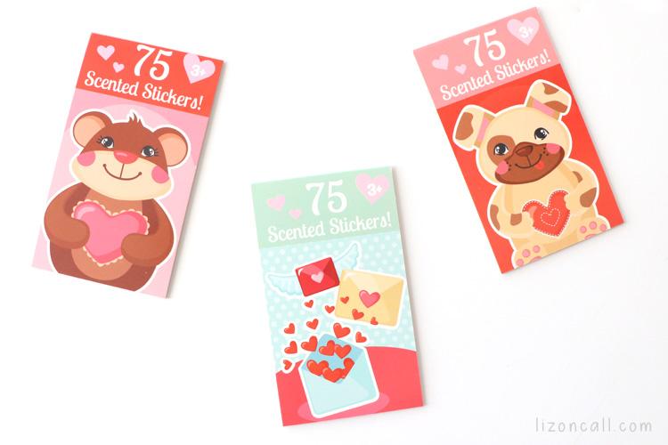 Valentine sticker books