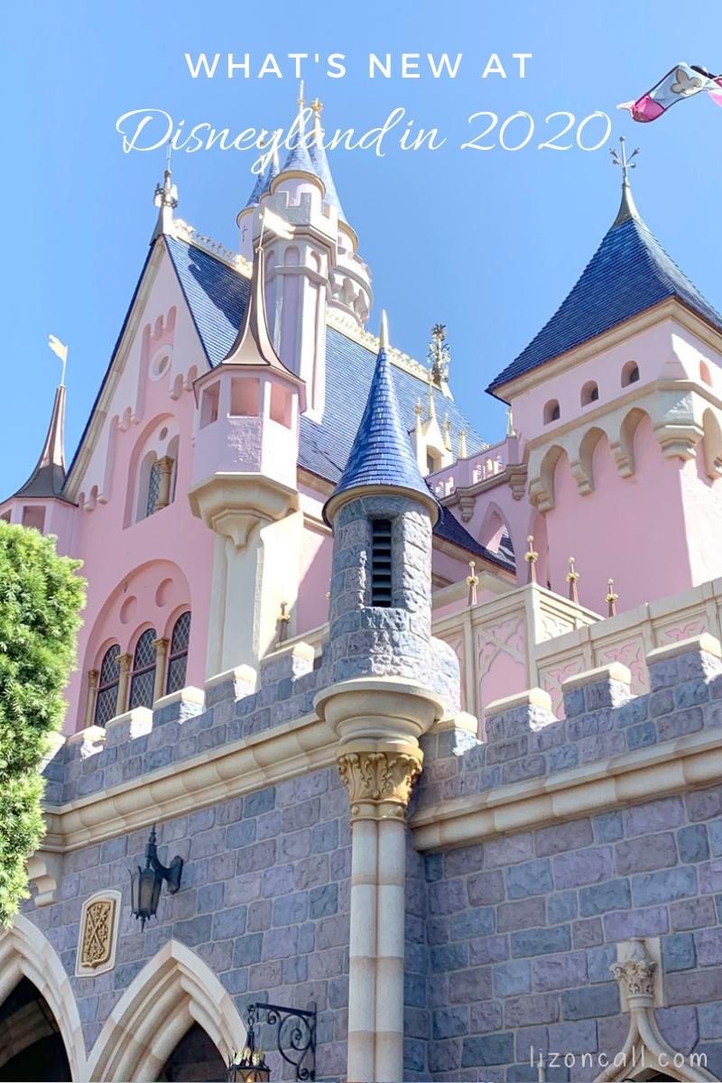 Titled image Disneyland Castle with writing Disneyland 2020