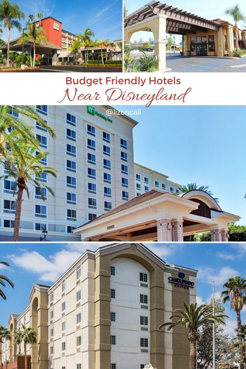 Titled pinnable image of budget friendly hotels near disneyland