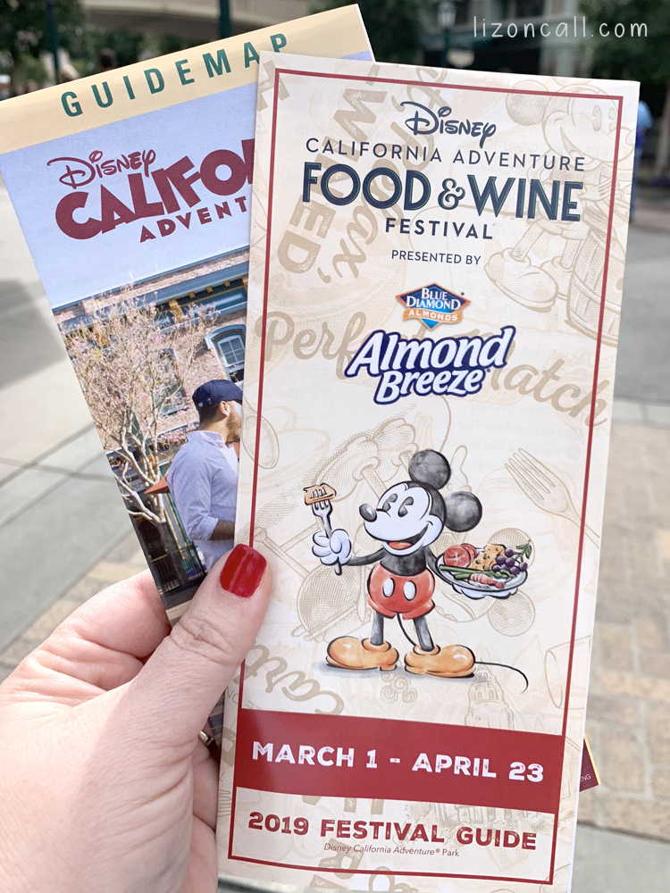 California Adventure Map and food and wine festival guide