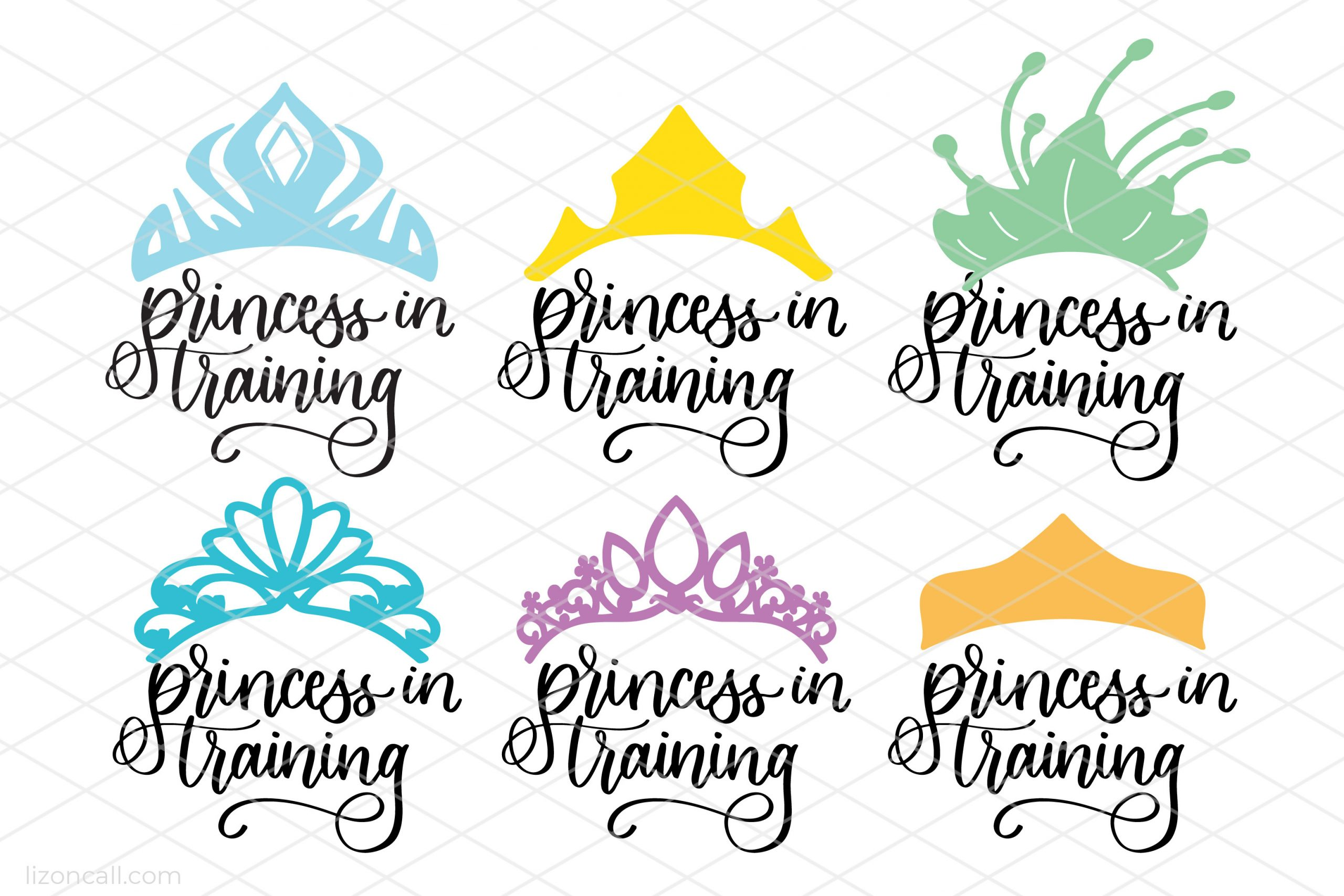 6 different princess crown designs