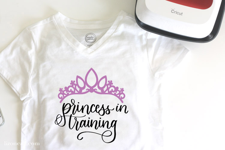 Princess in training design on a white t-shirt