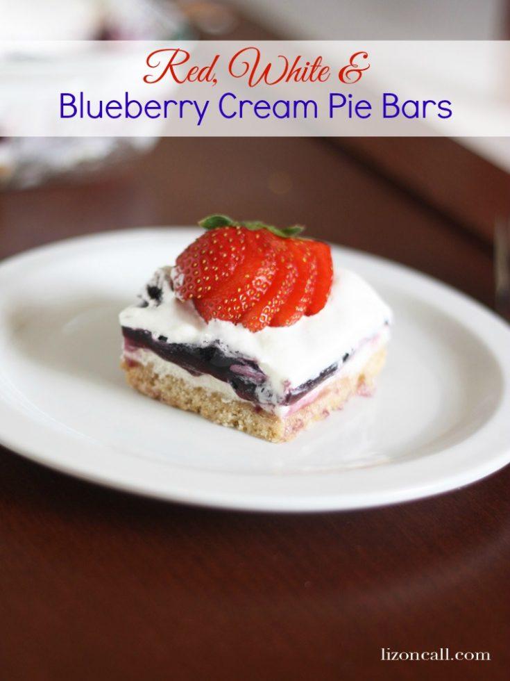 Blueberry Cream Pie Bars