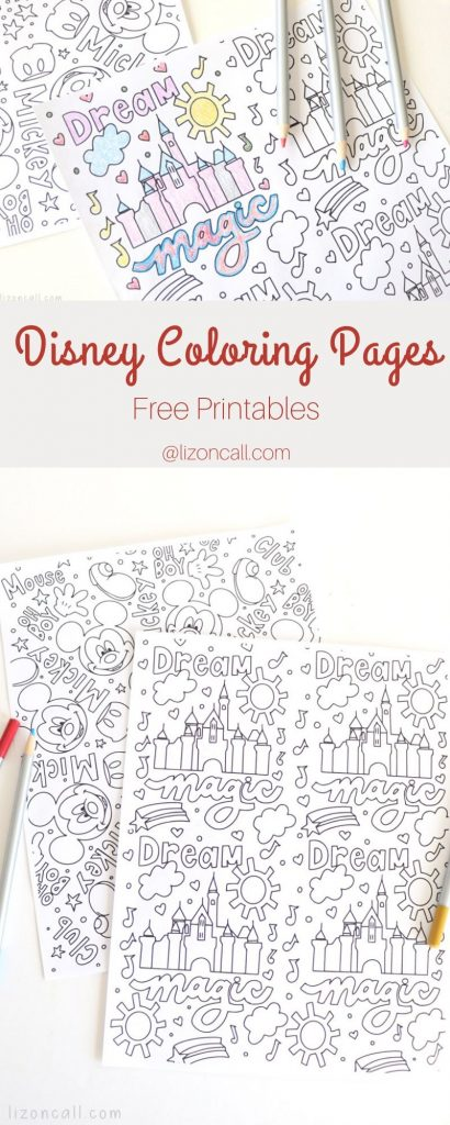 2 Disney coloring pages free to download