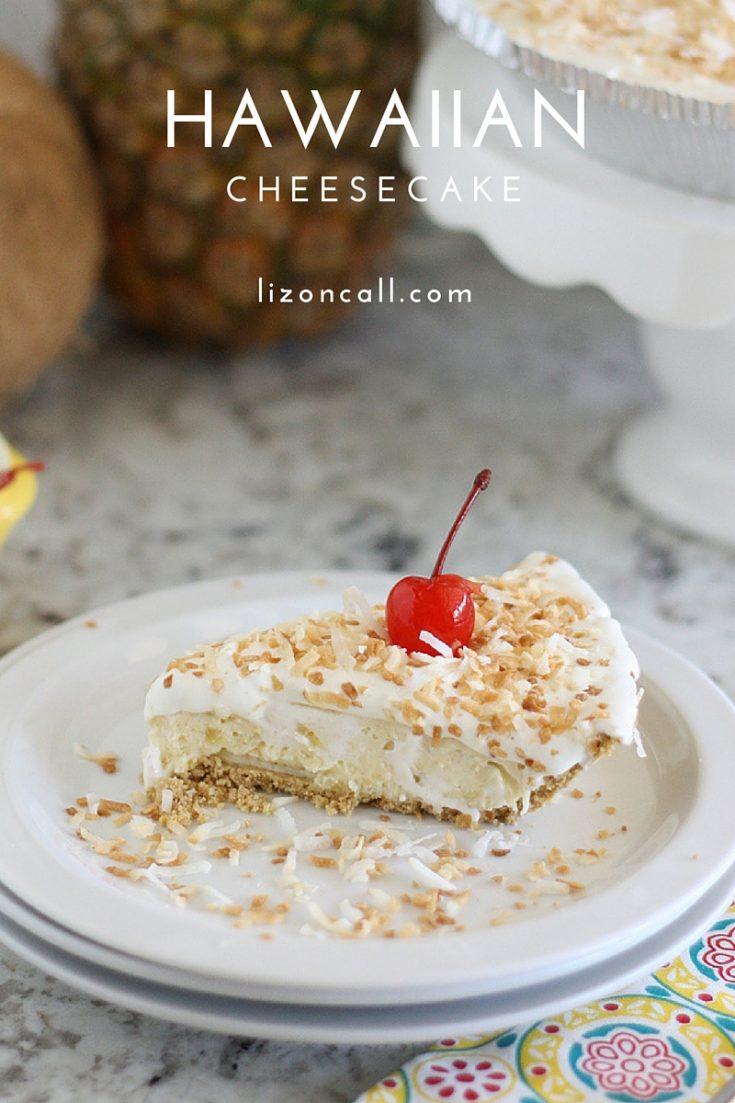 No Bake Hawaiian Cheesecake