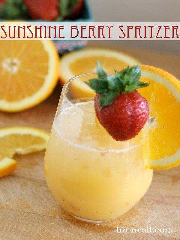 Sunshine Berry Spritzer - Non Alcoholic Brunch Party Punch