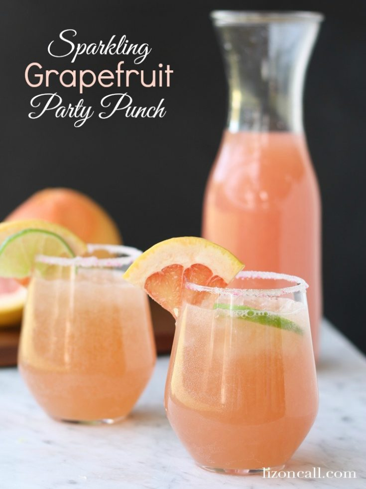 Sparkling Grapefruit Party Punch
