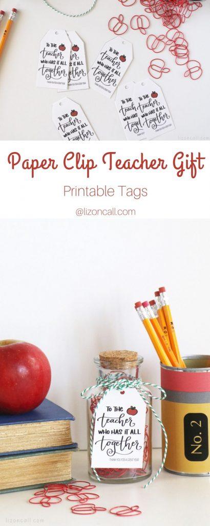 Paper Clip Teacher Gift Pin