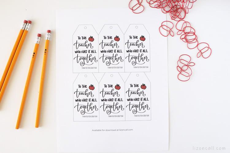 Teacher Paper Clip Gift 2