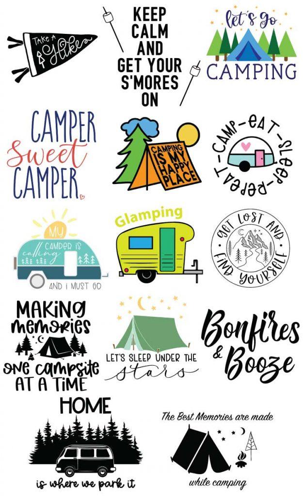 Camping Collage Designs No Header