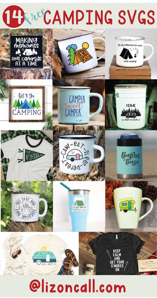Camping Collage 14 Camping themed SVG files
