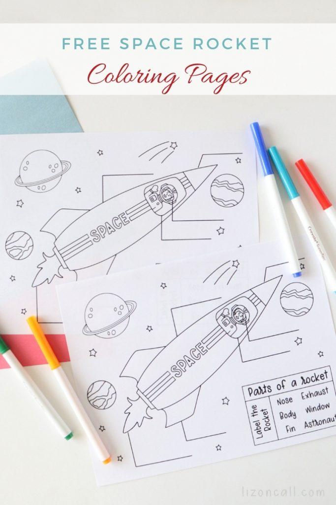 Rocket Coloring Page 1
