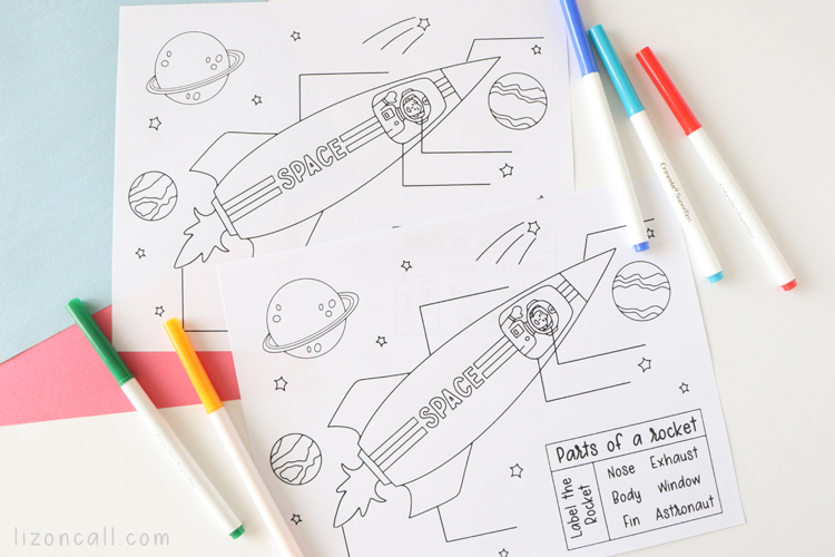 Rocket Coloring Page 2