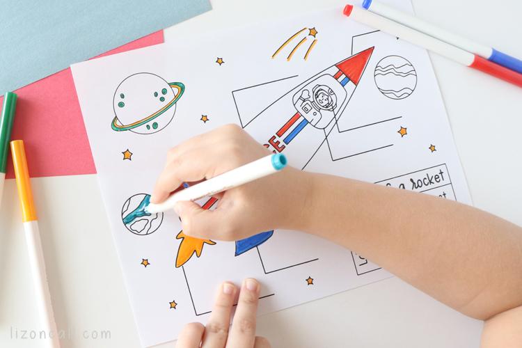 Rocket Coloring Page 3