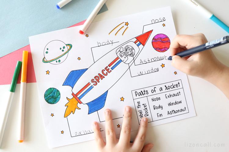 Rocket Coloring Page 4