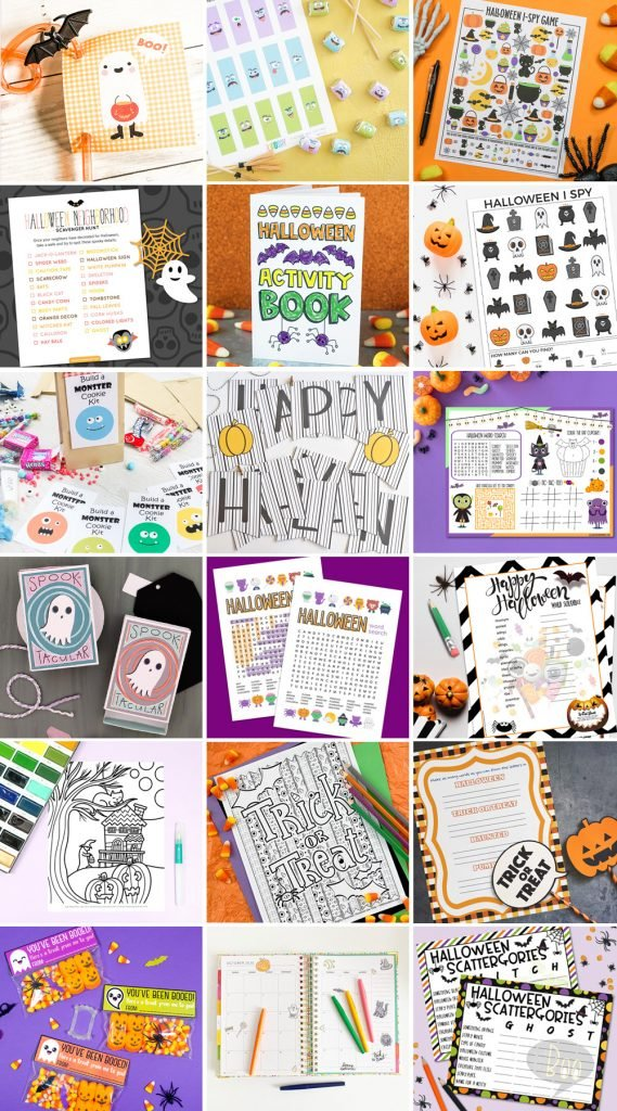 Halloween Printables Collage