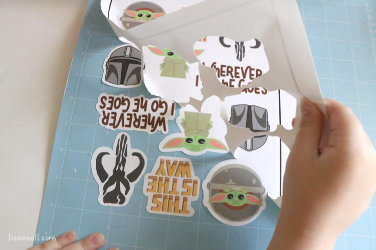 Mandalorian Stickers 2