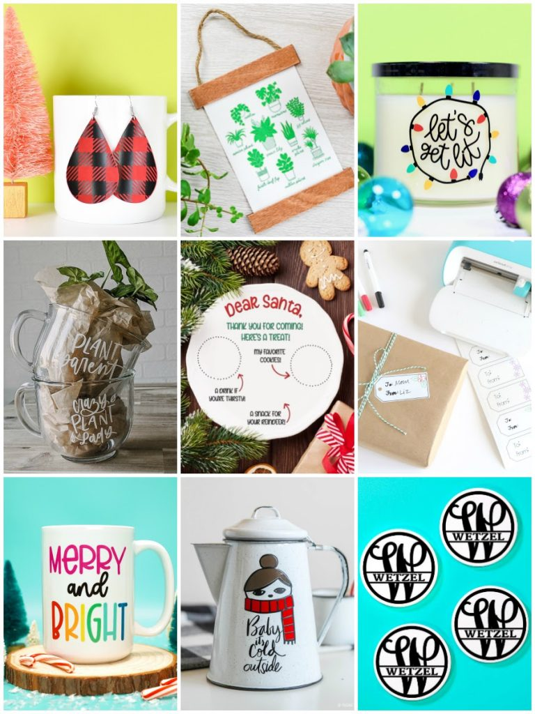 Cricut Holiday Gift Blog Hop Collage