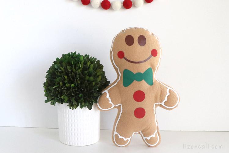 Gingerbread Pillow 3