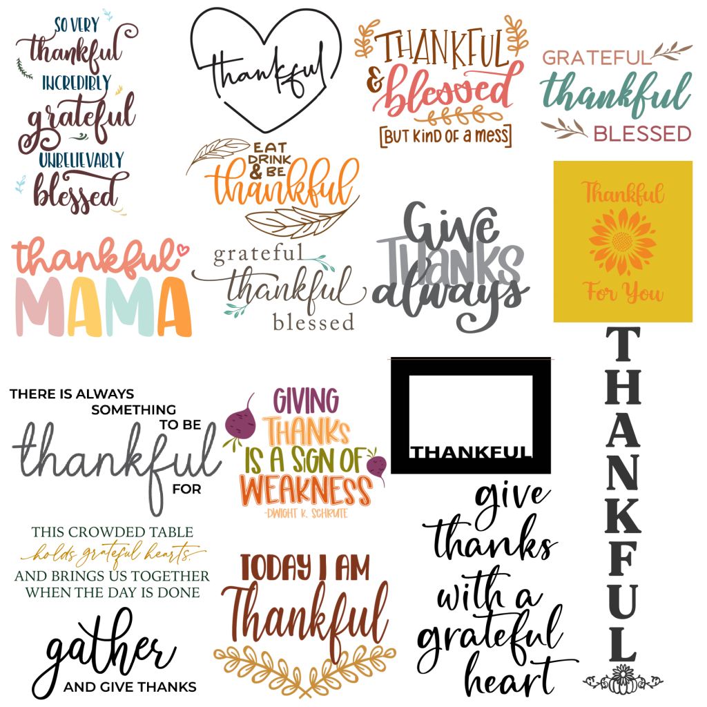 Thankful Collage Square