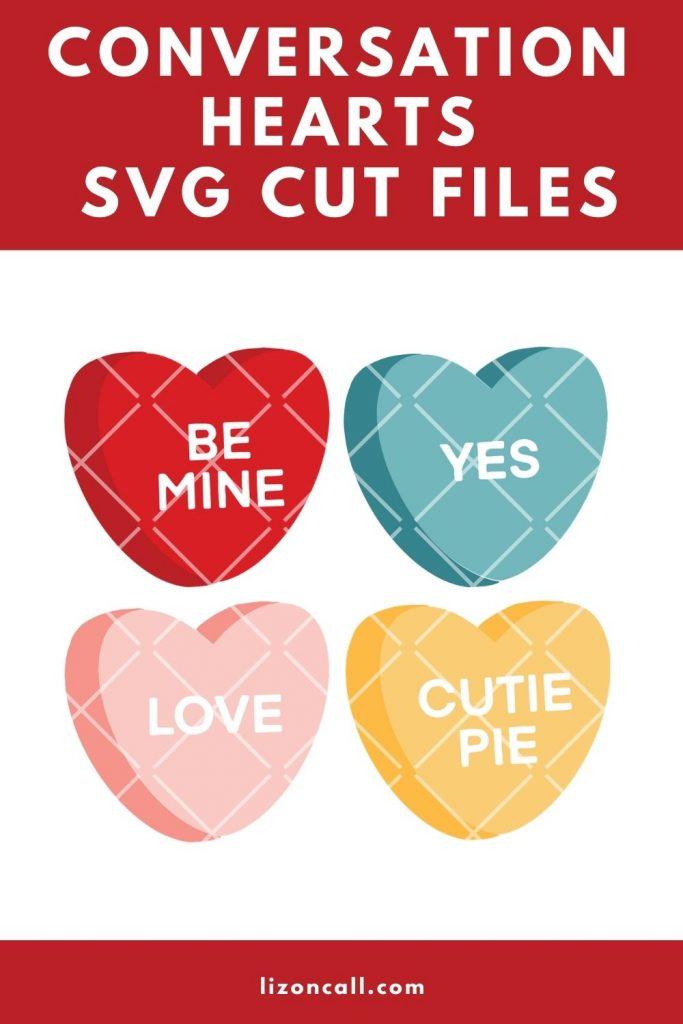 Conversation Heart Cut Files Pin
