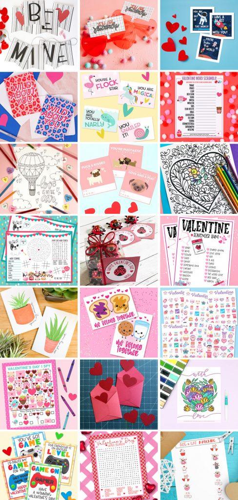 Januray Valentines Collage